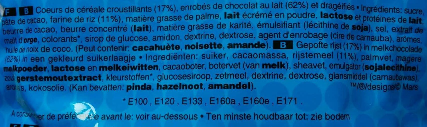 M&M's Crispy - Maxi +10% - Ingrédients