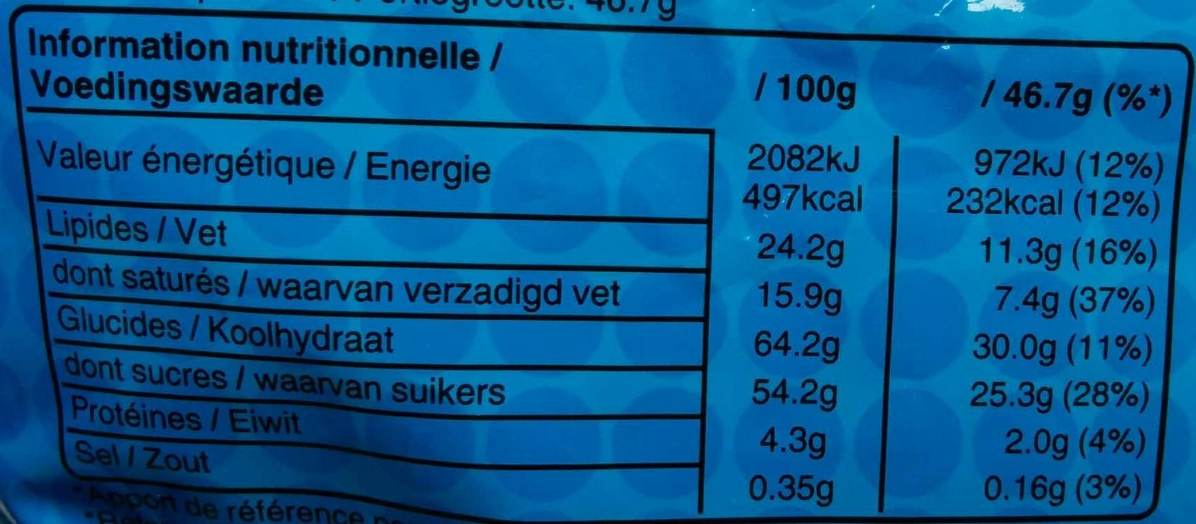 M&M's Crispy - Maxi +10% - Informations nutritionnelles