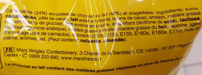M&M's peanut - Ingrédients - fr