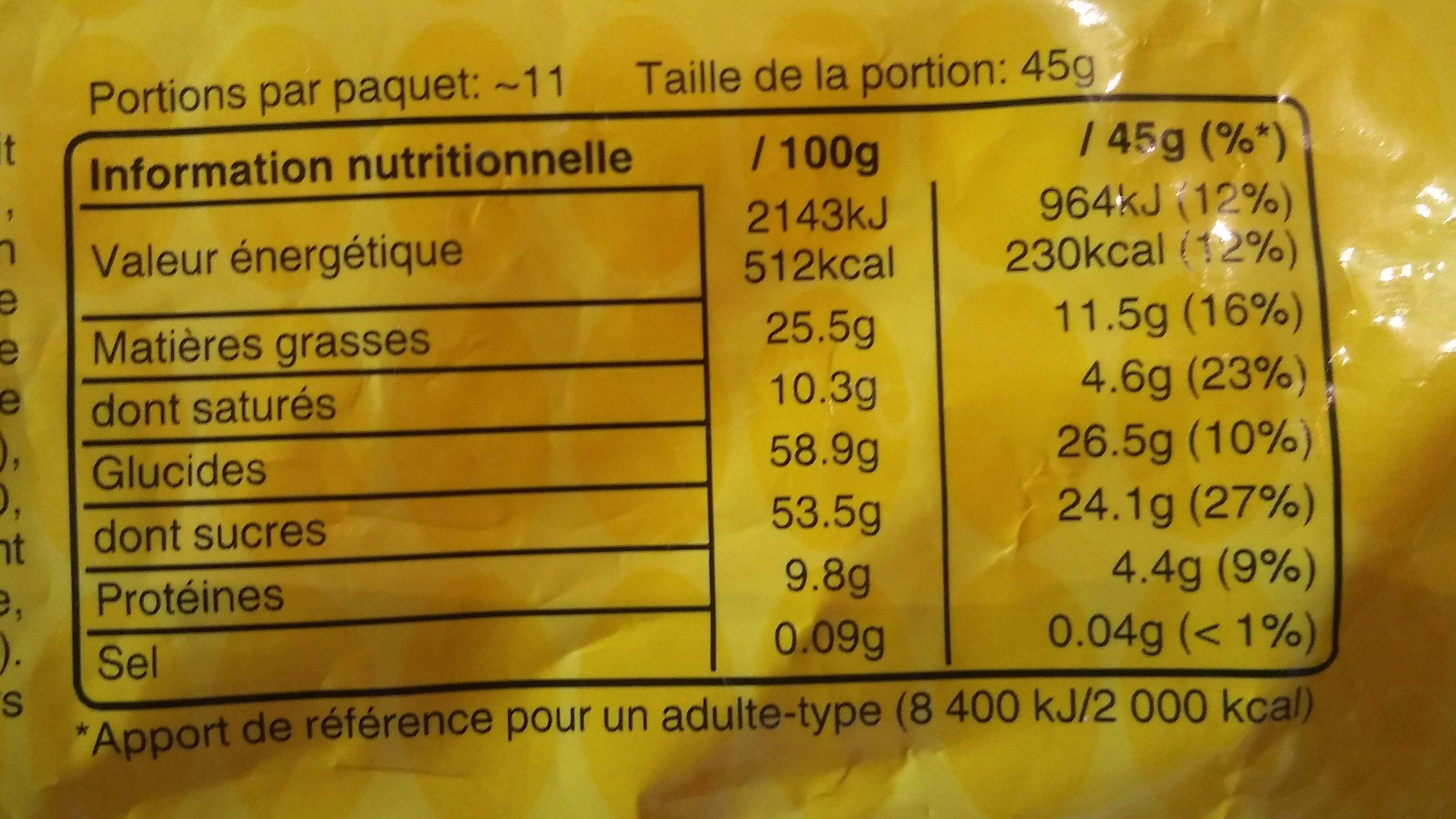 M&M's - Informations nutritionnelles