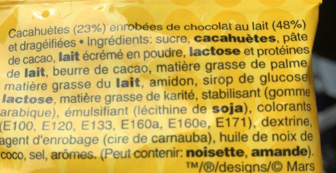 M&M's Peanut - Ingredients - fr