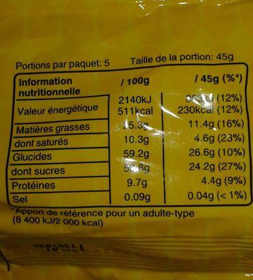 M&M'S - Voedingswaarden - fr