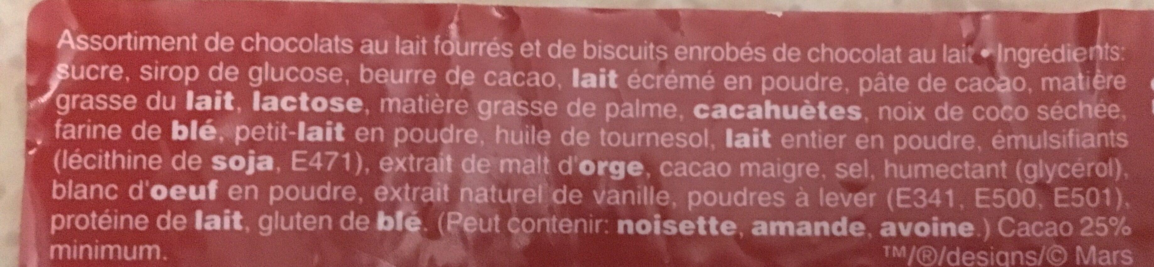 Bonbons chocolat Célébrations - Ingrédients - fr
