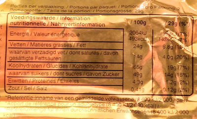 Twix - Nutrition facts - fr