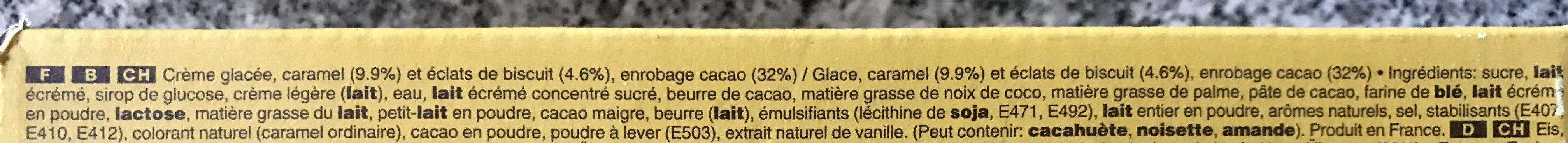 Twix Ice Cream Bar - Ingredientes - fr