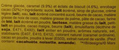 Barres Glacées Cœur Croustillant - Ingrediënten - fr