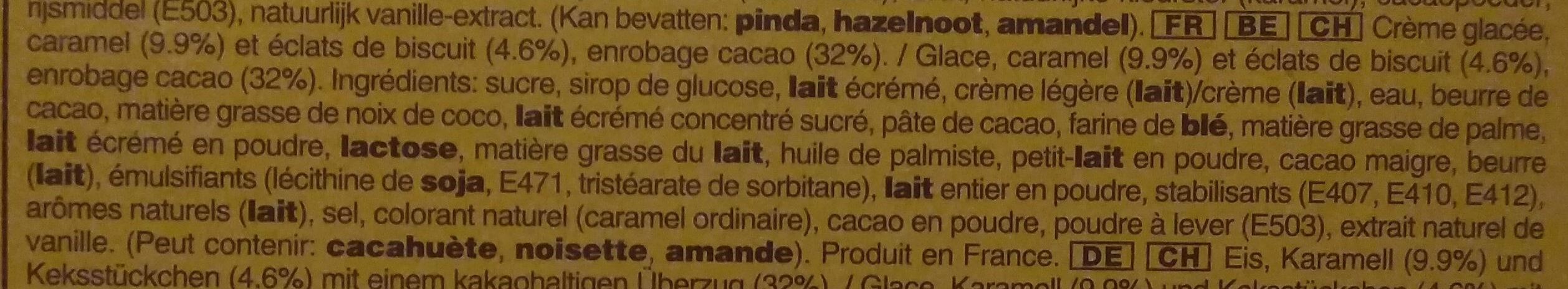 Twix Barres Glacées - Ingrédients - fr