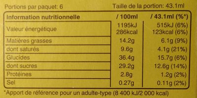Barres Glacées Cœur Croustillant - Voedingswaarden - fr