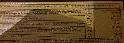 Barres Glacées - Informations nutritionnelles - en