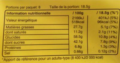 Balisto goût miel-Amandes - Informazioni nutrizionali - fr