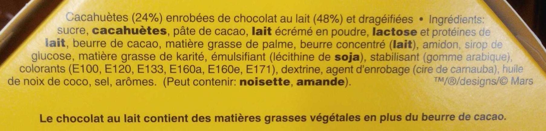 M&M's Peanut - Spécial Fêtes - Ingrédients