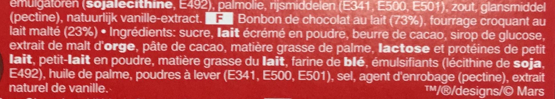 Maltesers - Ingrédients - fr