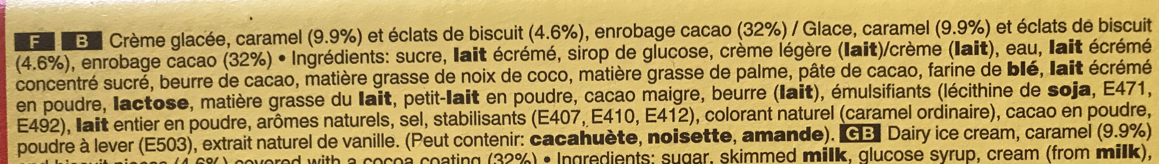 Barre glacee twix x10 - Ingrédients - fr