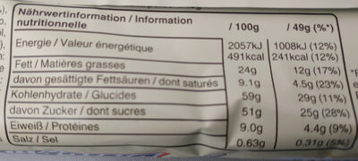 Snickers white - Nährwertangaben - de