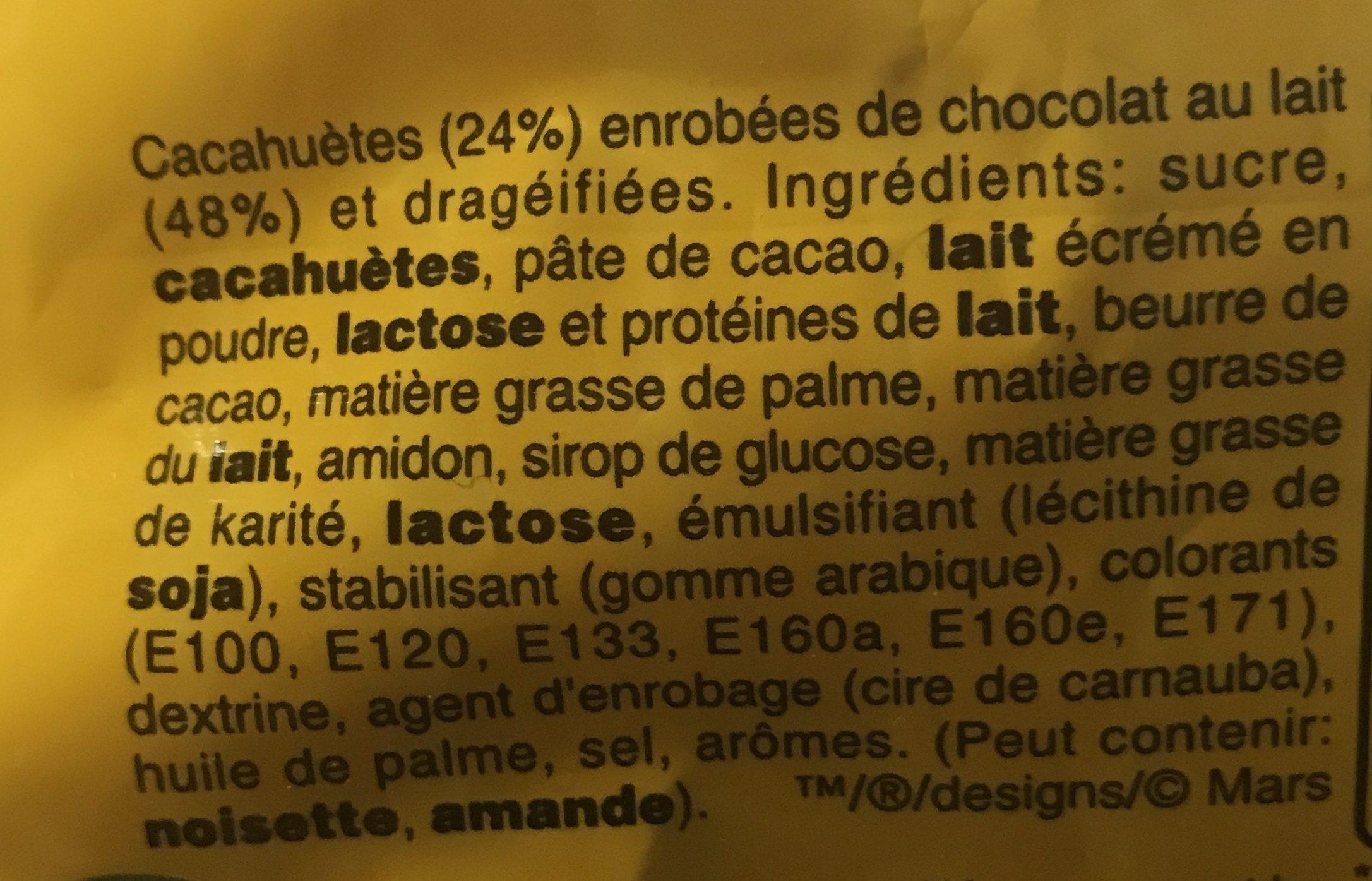 M&m's Large - Ingredientes