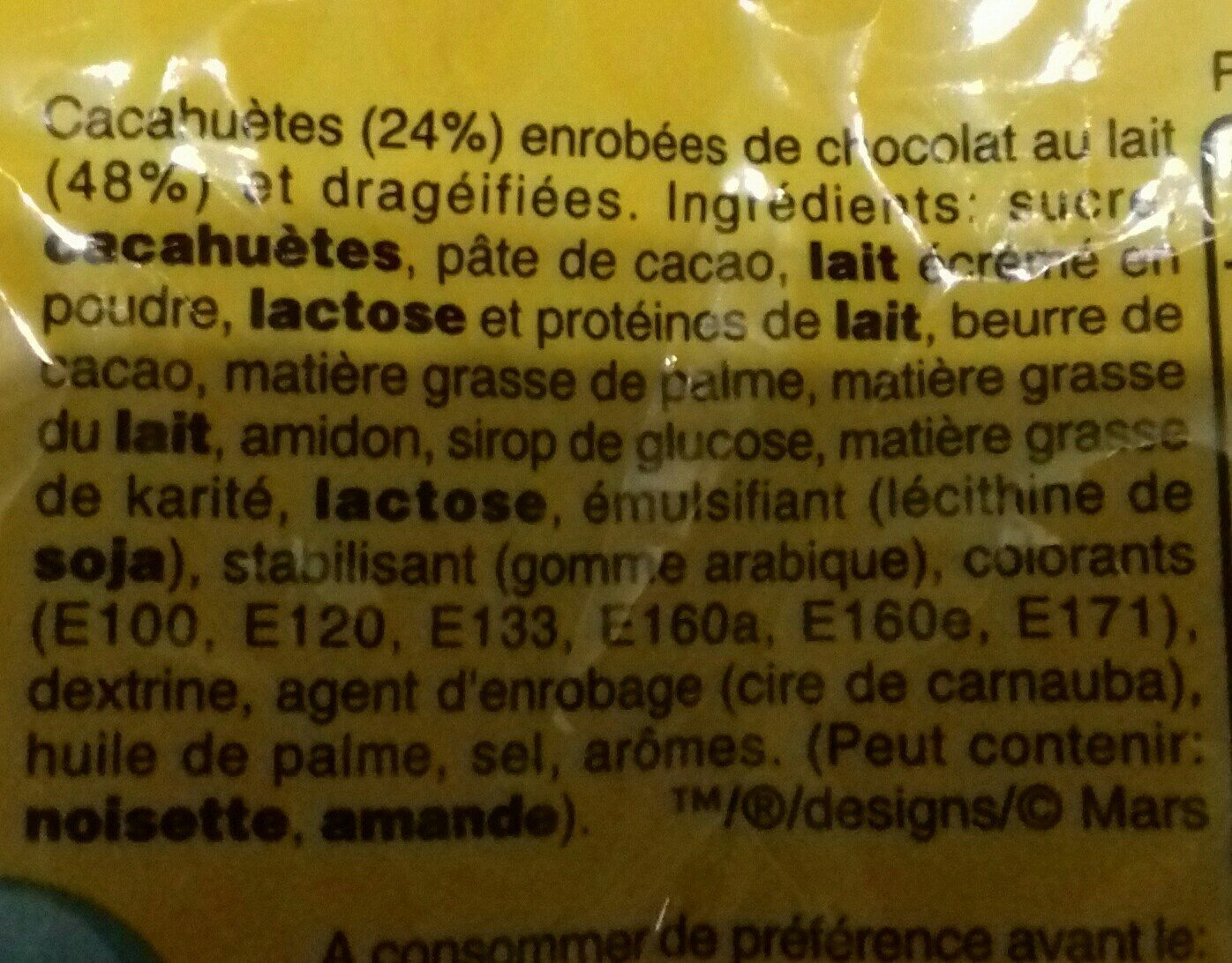 M&m's Large - Ingredients - fr