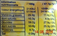 M&m's Large - Informations nutritionnelles