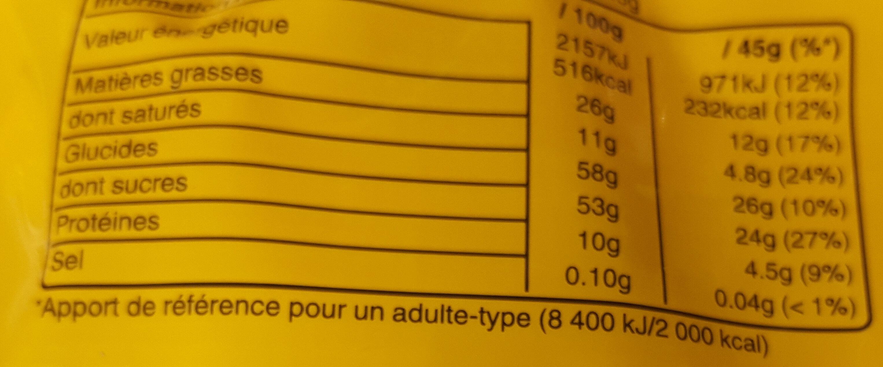 M&M's Peanut - Nutrition facts - fr