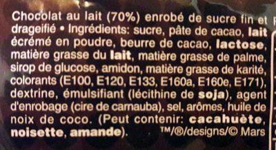 M&m's chocolate - Ingrédients - fr