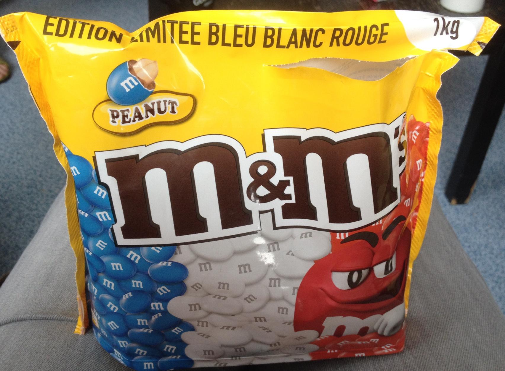M Amp M S Peanut 201 Dition Limit 233 E Bleu Blanc Rouge Mars 1 Kg E