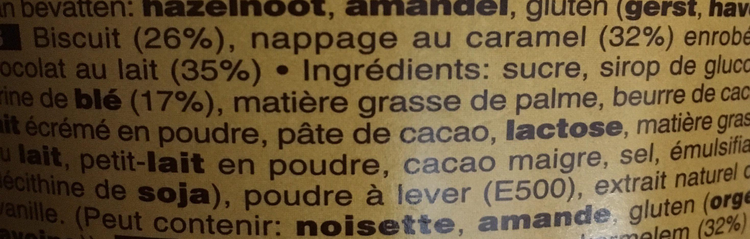 Twix minis - Ingredientes - fr