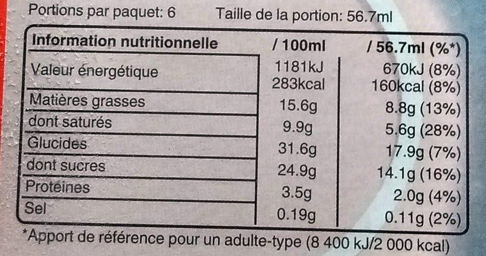 Mars Signature Amande X6 - Informations nutritionnelles - fr