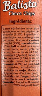 Choco chips - Ingredients - fr