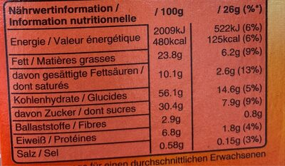 Choco chips - Nutrition facts - fr