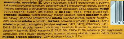 Ice cream - Składniki - pl