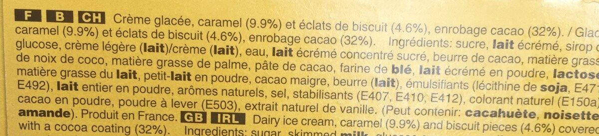 Twix Ice Cream - Ingrédients - fr