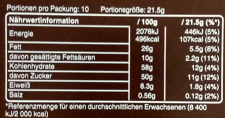 Snickers Sticks 10 - Nutrition facts