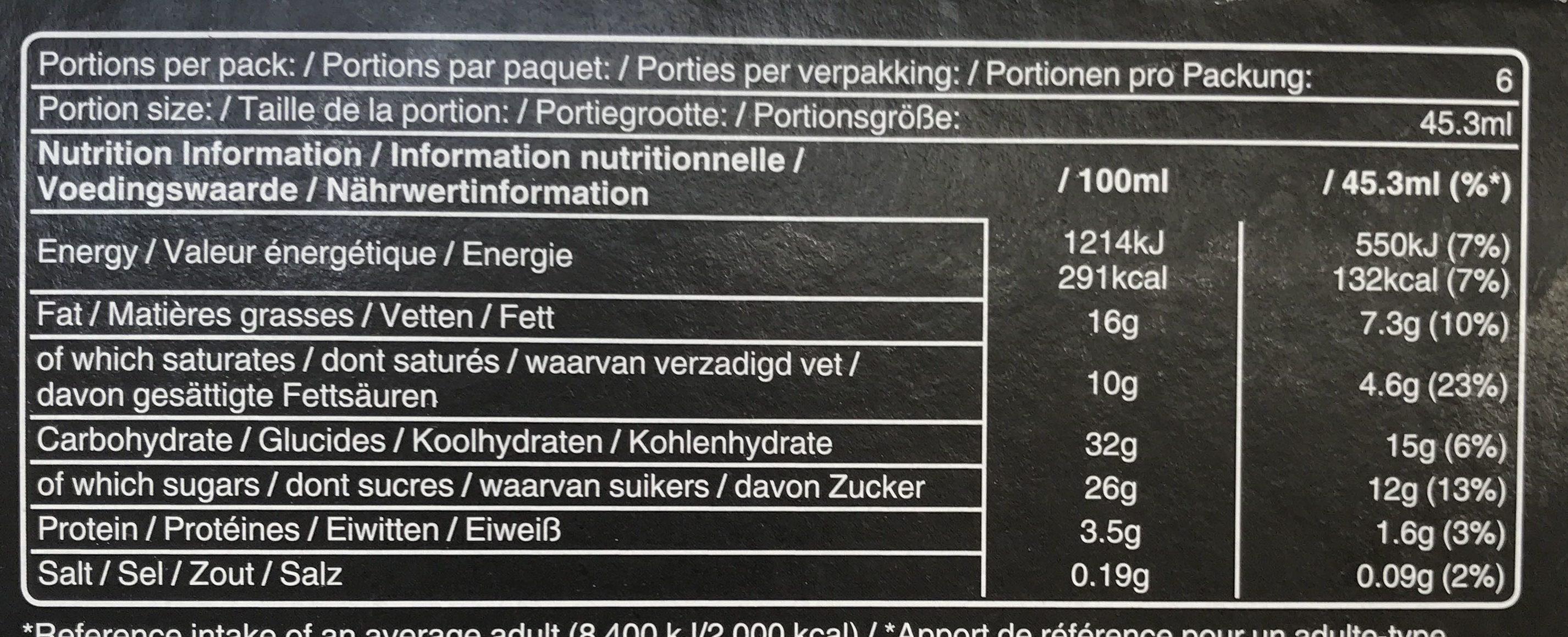 Mars glacé amande - Informations nutritionnelles - fr