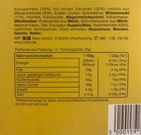 Twix stiks - Información nutricional - fr