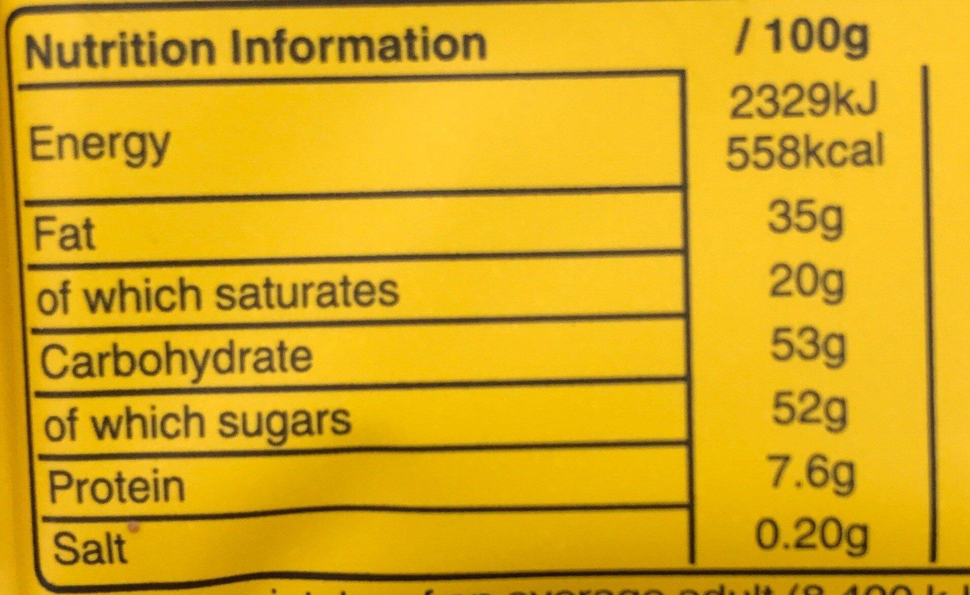 M&M'S  Tablettes cachuètes - Nutrition facts - en
