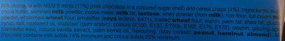 M&M'S Tablette Crispy - Ingredients - en