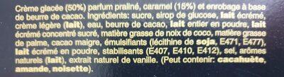 Mars glacé - Ingrédients