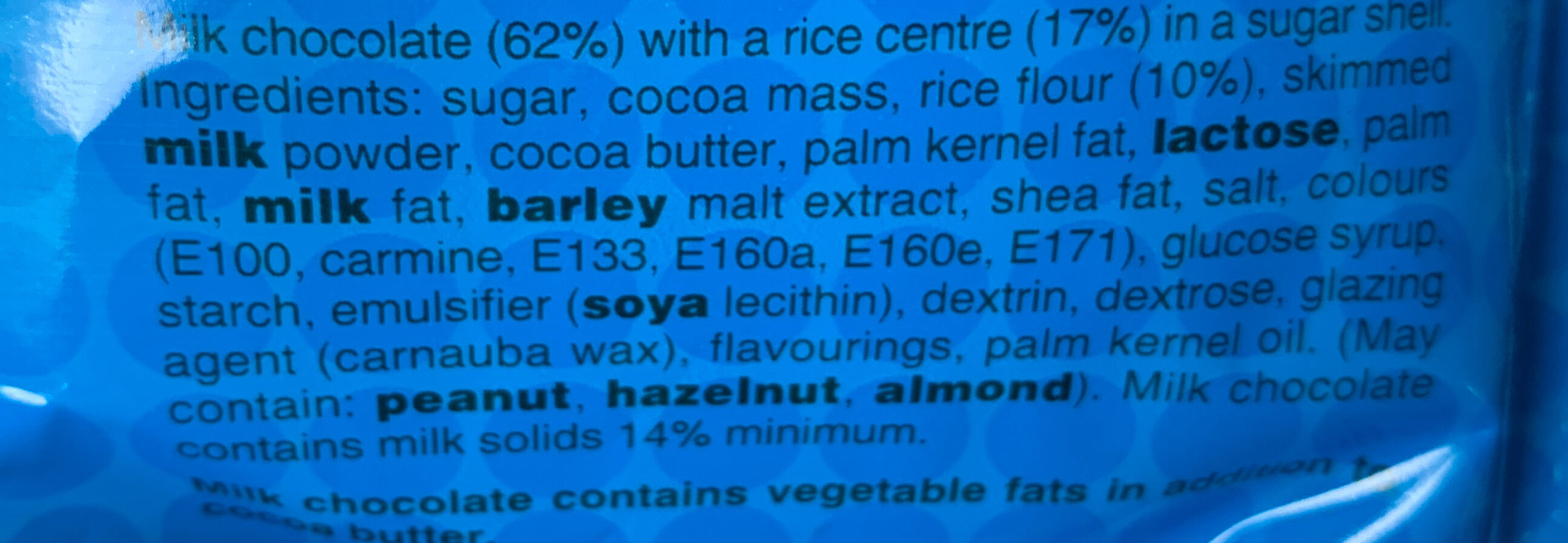 M&S Crispy - Ingredients