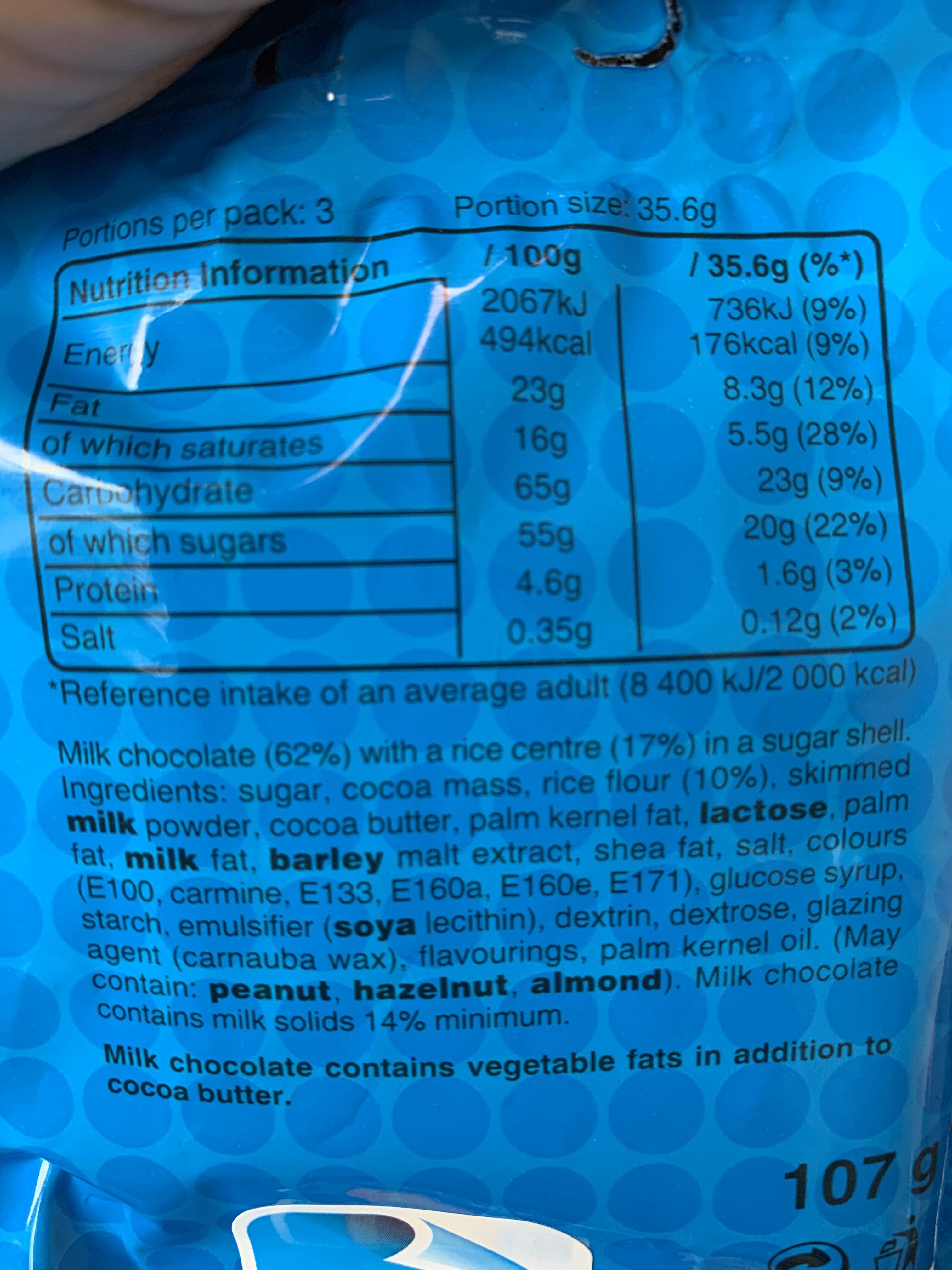 M&S Crispy - Nutrition facts