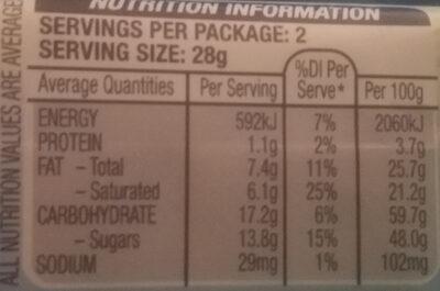 Bounty - Nutrition facts - en