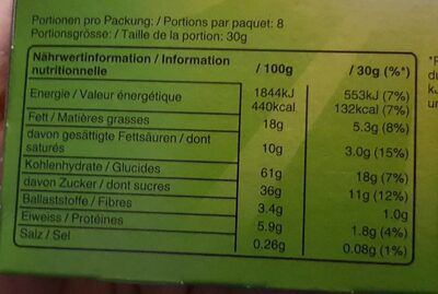 Balisto choco Apple - Informations nutritionnelles