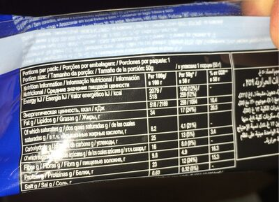 Double Dark Chocolate nut - Nutrition facts - fr
