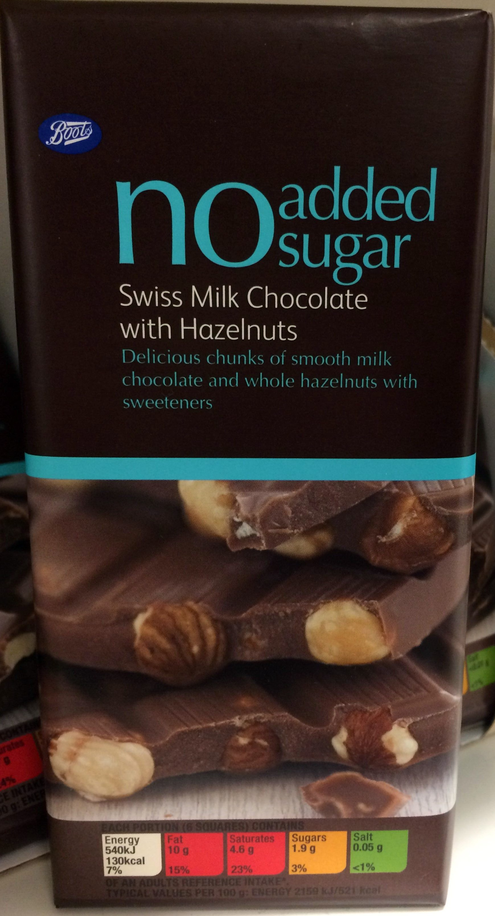 No sugar Swiss milk chocolate with hazelnuts - Product