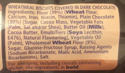 Digestives Dark Chocolate - Ingredients