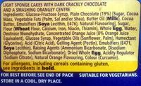 McVitie's Jaffa Cakes - Ingredients - en