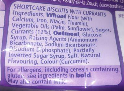 Fruit shortcake - Ingrédients