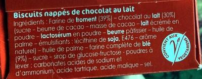 Sablés Anglais Chocolat au lait - Ingredients