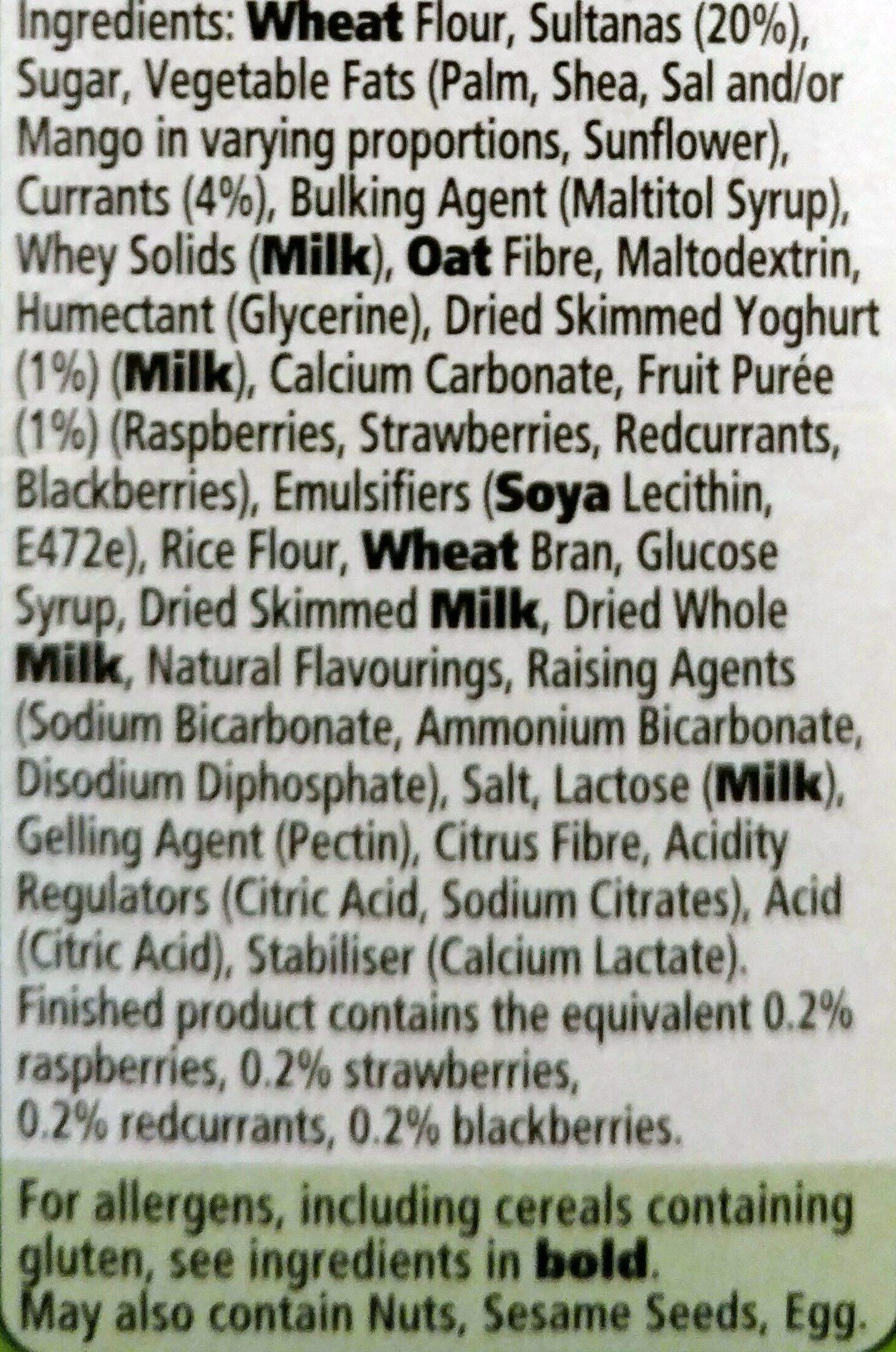 Yogurt breaks - Ingredients
