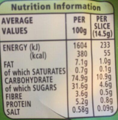 Go Ahead! Crispy Slices Apple - Informations nutritionnelles - en