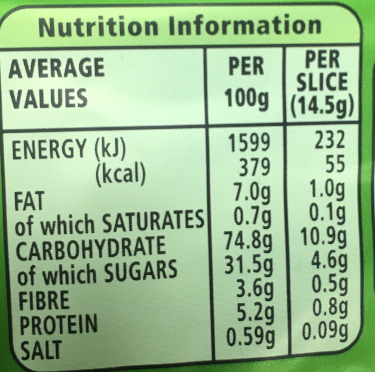 Go Ahead! Crispy Slices Forest Fruit - Nutrition facts - fr