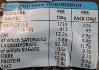 6 Twiglets Original - Informations nutritionnelles - en